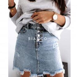 Φούστα jean με κουμπιά