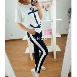 Σετ navy, μπλούζα & παντελόνι